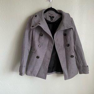 Gray Peacoat H&M
